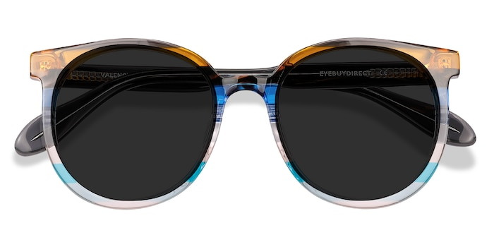 Brown Blue Valence -  Acetate Sunglasses