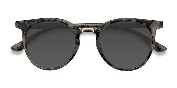 Gray Floral Lulu -  Metal Sunglasses