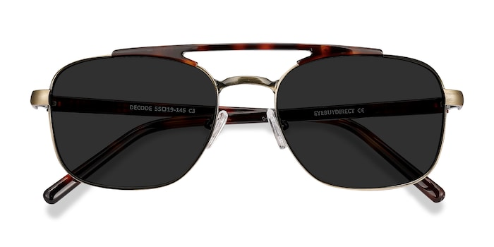 Tortoise Bronze Decode -  Acetate Sunglasses