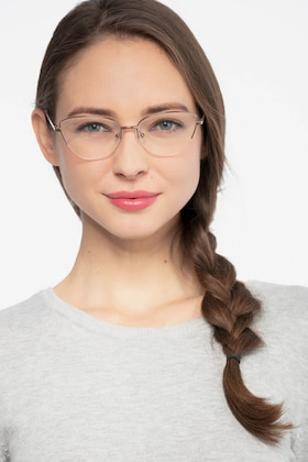 Rose Gold Star -  Fashion Metal Eyeglasses