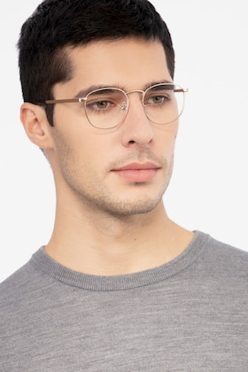 Golden St Michel -  Vintage Metal Eyeglasses