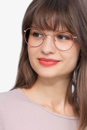 Rose Gold Daydream -  Colorful Metal Eyeglasses
