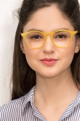 Yellow Instant Crush -  Colorful Plastic Eyeglasses