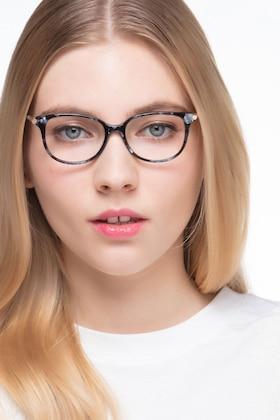 Gray Floral Jasmine -  Acetate Eyeglasses