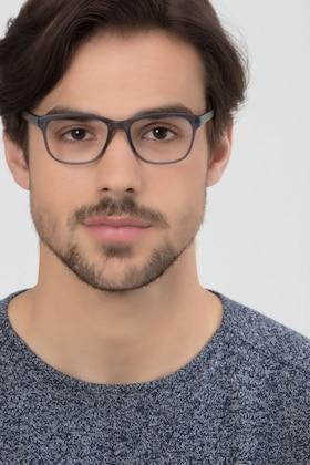 Matte Gray Milo -  Plastique Lunettes de Vue