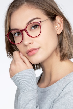 Red Quill -  Metal Eyeglasses