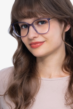 Purple Aroma -  Fashion Metal Eyeglasses