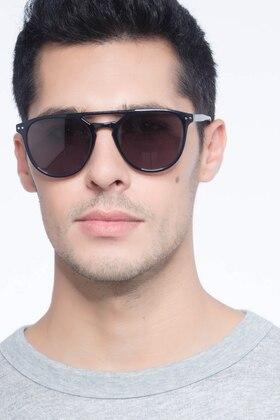 Navy Meadow -  Plastic Sunglasses