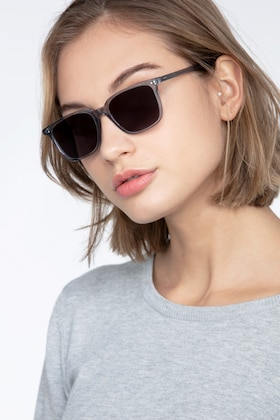 Clear Gray Luck -  Acetate Sunglasses