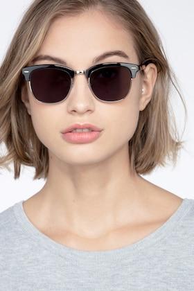 Black Strata -  Vintage Metal Sunglasses