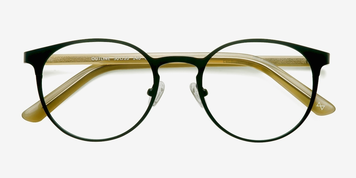 cb4a2378ed Outline Black Steel Acetate Acetate Eyeglass Frames from EyeBuyDirect