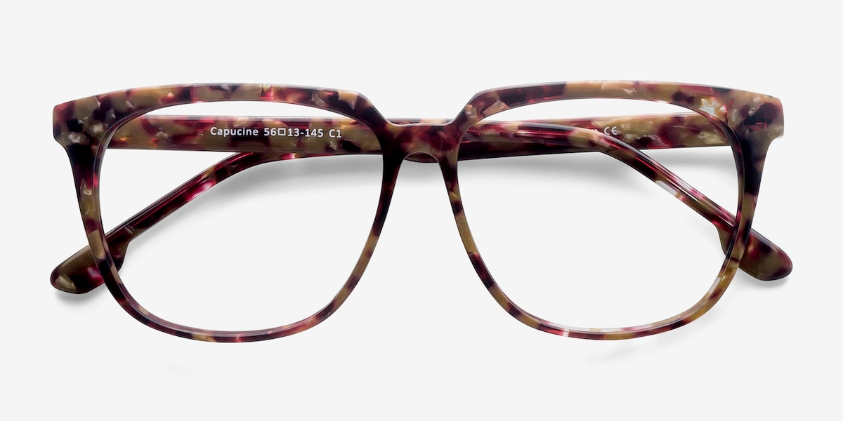 dca4ad78ff Full screen. Capucine Red Floral Acetate Eyeglass Frames for Women from  EyeBuyDirect