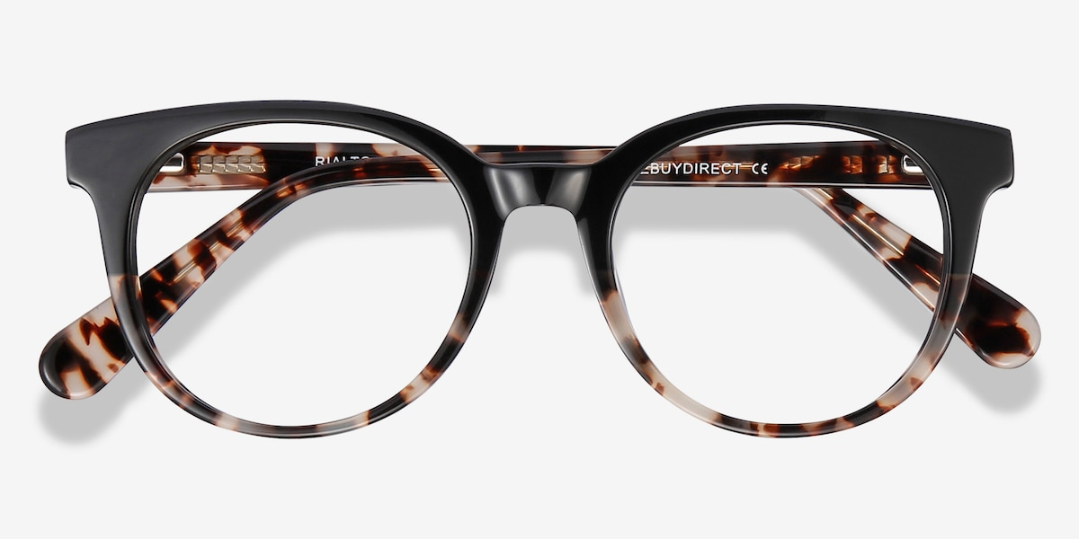 2efb9a307cb2 Rialto Black Tortoise Acetate Eyeglass Frames from EyeBuyDirect