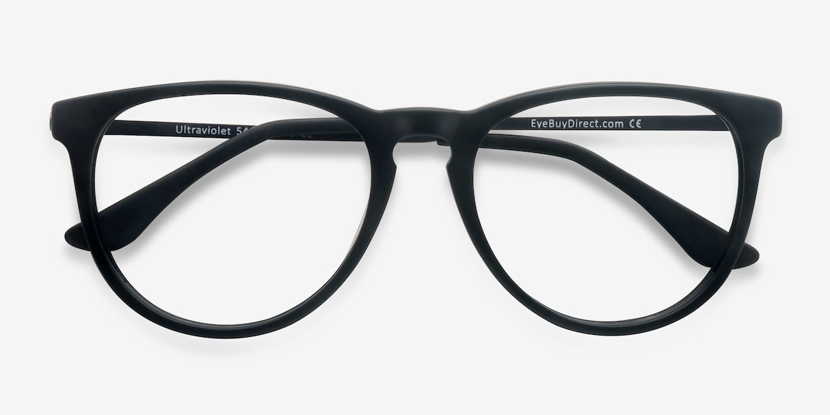 18b6ae2ef1 Ultraviolet Matte Black Acetate Eyeglass Frames from EyeBuyDirect