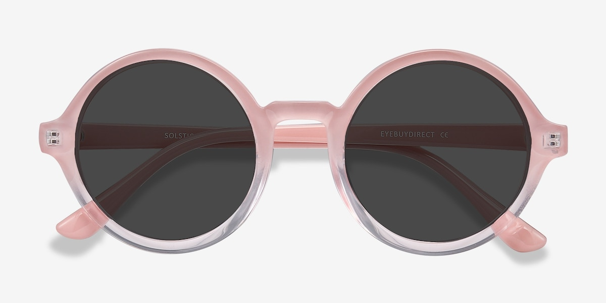 b4ce4894ec576 Solstice Pink Clear Plastic Sunglass Frames from EyeBuyDirect