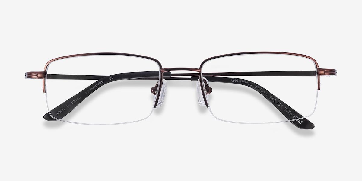 fee6fcf8e96 Graphic Coffee Titanium Eyeglass Frames from EyeBuyDirect