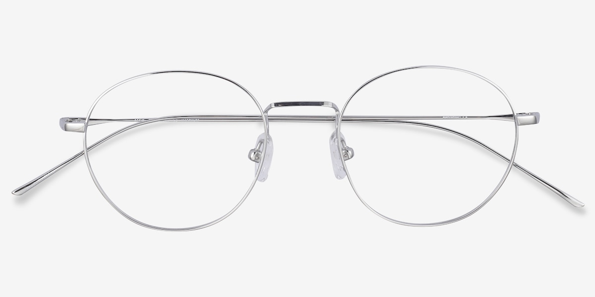212343f81 Aegis Silver Titanium Eyeglass Frames from EyeBuyDirect, Closed View. Full  screen