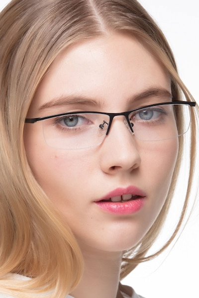 Boon Black Metal Eyeglass Frames for Women from EyeBuyDirect