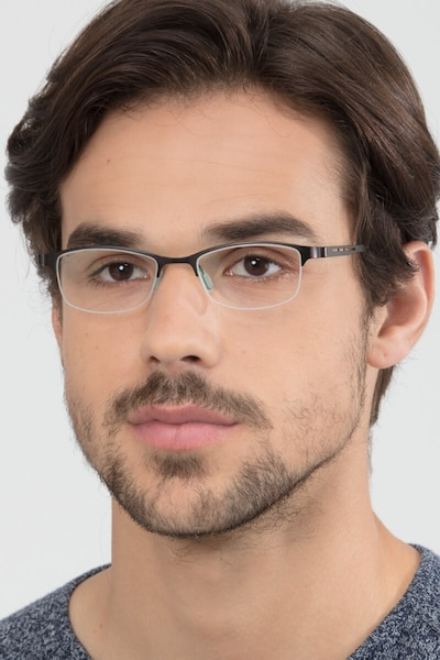 Pearl Black Metal Eyeglass Frames for Men from EyeBuyDirect