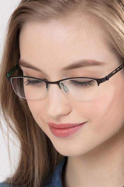Pearl Black Metal Eyeglass Frames for Women from EyeBuyDirect