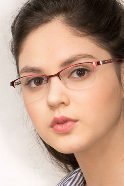 Pearl Red Metal Eyeglass Frames for Women from EyeBuyDirect