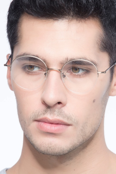 Albee Bronze Metal Eyeglass Frames for Men from EyeBuyDirect