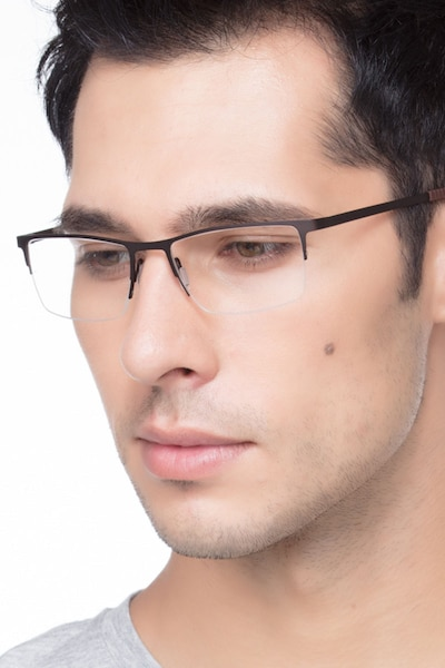Variable Brown Metal Eyeglass Frames for Men from EyeBuyDirect