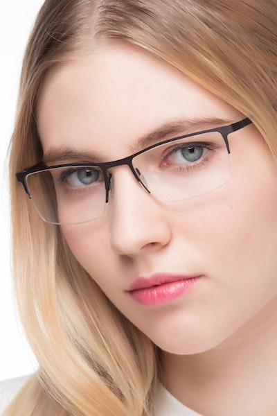 Variable Brown Metal Eyeglass Frames for Women from EyeBuyDirect