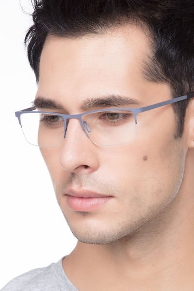 Variable Gray Metal Eyeglass Frames for Men from EyeBuyDirect