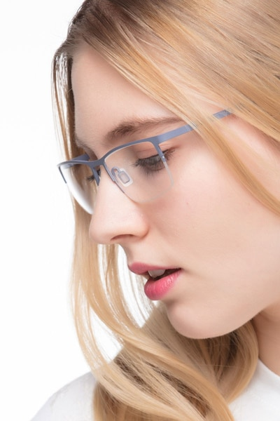 Variable Gray Metal Eyeglass Frames for Women from EyeBuyDirect