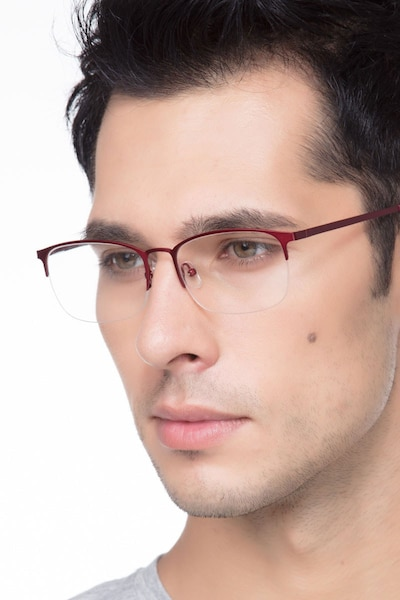 Paradox Red Metal Eyeglass Frames for Men from EyeBuyDirect