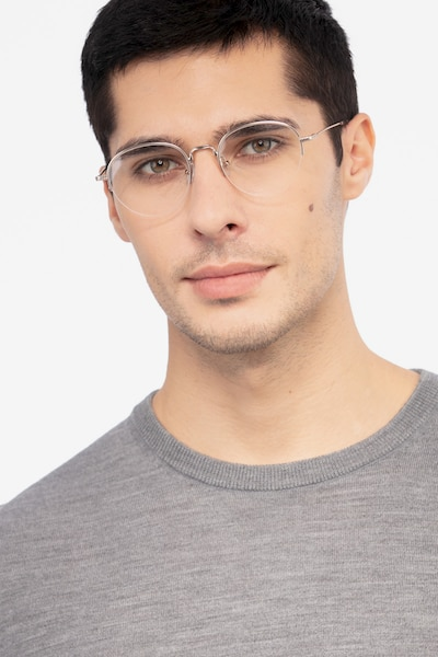 Noblesse Golden Metal Eyeglass Frames for Men from EyeBuyDirect, Front View