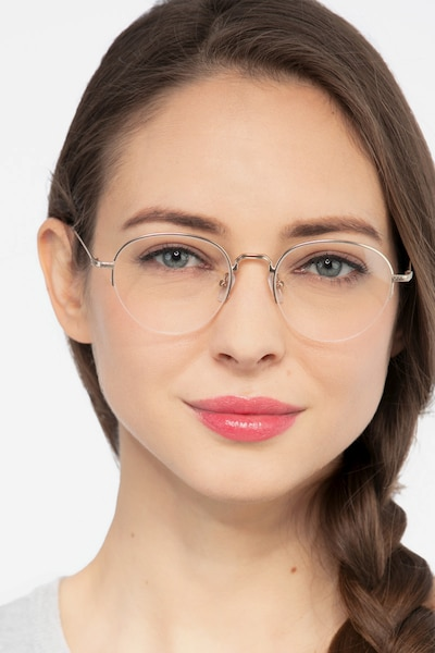 Noblesse Golden Metal Eyeglass Frames for Women from EyeBuyDirect