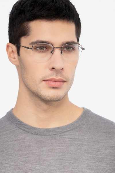 Navigator Tortoise Metal Eyeglass Frames for Men from EyeBuyDirect, Front View