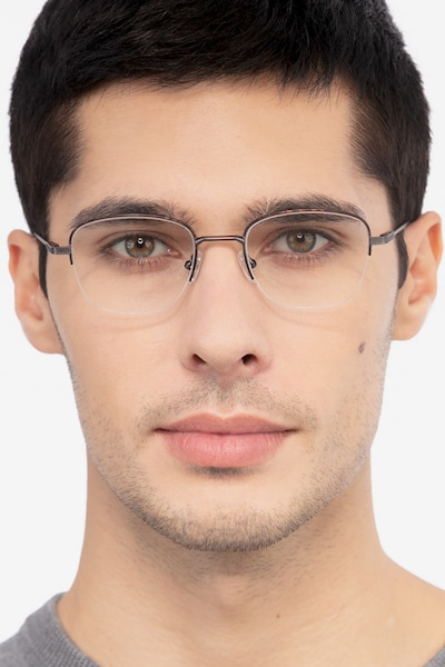 Navigator Tortoise Metal Eyeglass Frames for Men from EyeBuyDirect