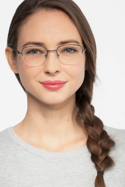 Navigator Tortoise Metal Eyeglass Frames for Women from EyeBuyDirect, Front View