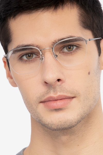 Enya Gunmetal Metal Eyeglass Frames for Men from EyeBuyDirect