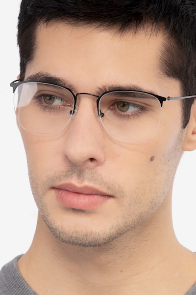 Urban Black Metal Eyeglass Frames for Men from EyeBuyDirect