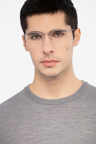 Urban Gunmetal Metal Eyeglass Frames for Men from EyeBuyDirect