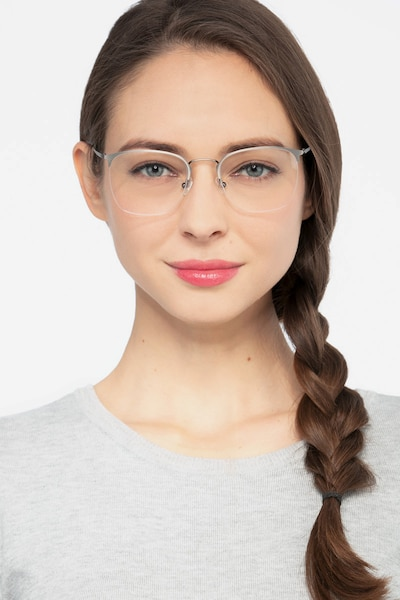 Urban Gunmetal Metal Eyeglass Frames for Women from EyeBuyDirect, Front View
