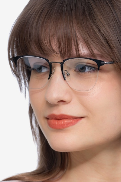 Wings Black Metal Eyeglass Frames for Women from EyeBuyDirect