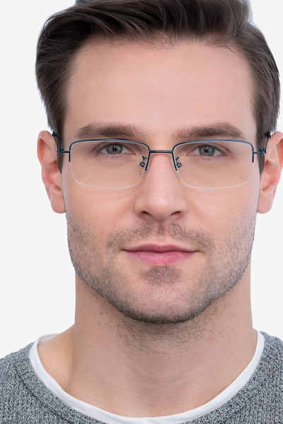 Studio Navy Metal Eyeglass Frames for Men from EyeBuyDirect