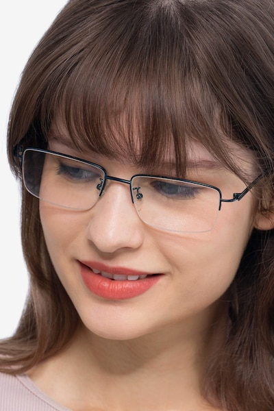 Studio Navy Metal Eyeglass Frames for Women from EyeBuyDirect