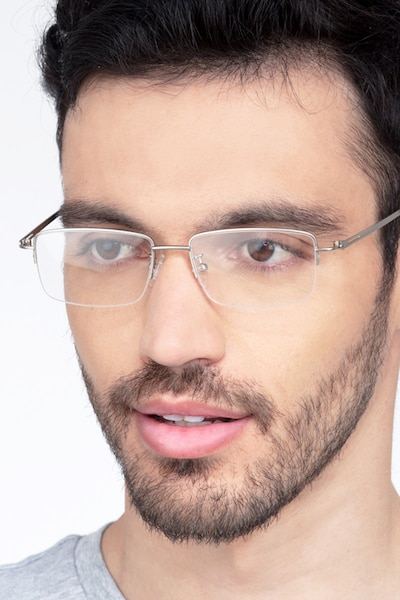 Studio Silver Metal Eyeglass Frames for Men from EyeBuyDirect