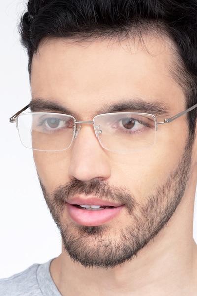 Studio Argenté Métal Montures de Lunette de vue pour Hommes d'EyeBuyDirect