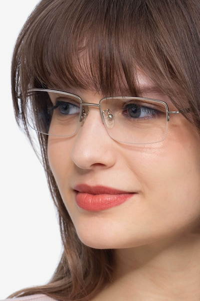 Studio Silver Metal Eyeglass Frames for Women from EyeBuyDirect