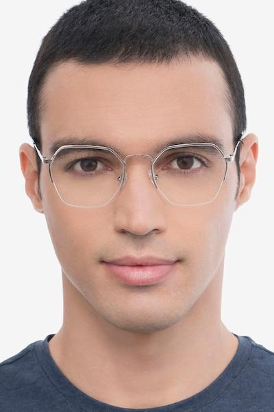 Cruz Silver Metal Eyeglass Frames for Men from EyeBuyDirect