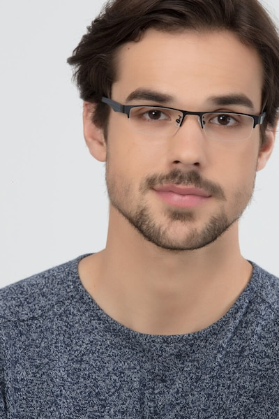 Beau Black Plastic-metal Eyeglass Frames for Men from EyeBuyDirect