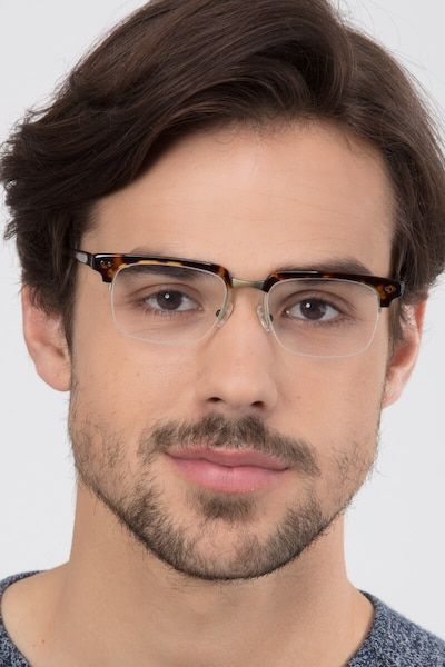 Kurma Tortoise Metal Eyeglass Frames for Men from EyeBuyDirect