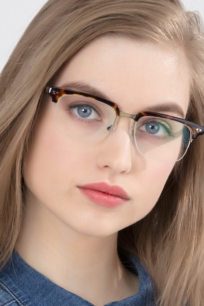 Kurma Tortoise Metal Eyeglass Frames for Women from EyeBuyDirect